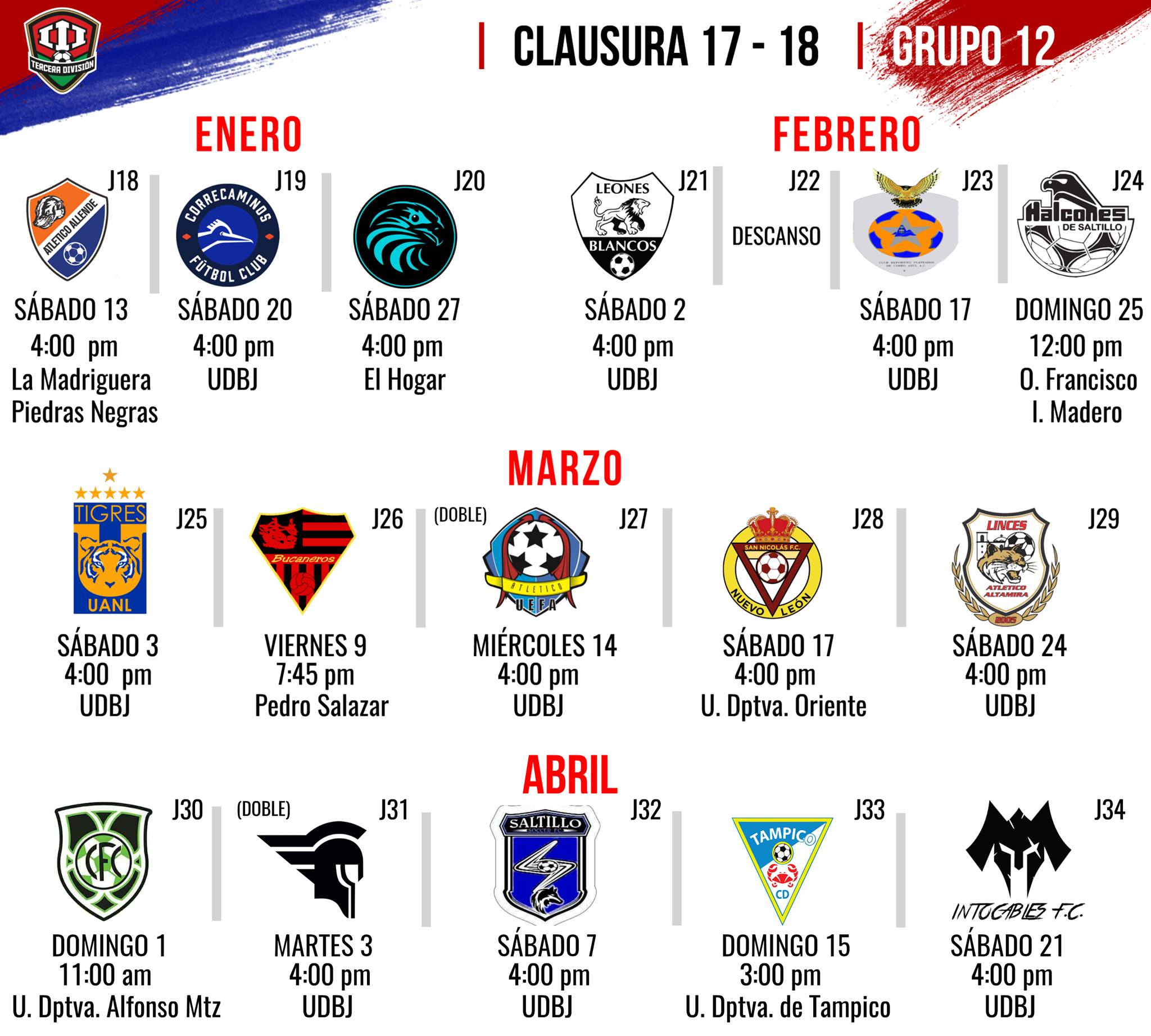 Calendario Tercera Division.Dan A Conocer El Calendario De Bravos De Nuevo Laredo