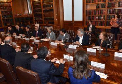 Se reúne Olga Sánchez con Alfonso Navarrete en el Palacio de Cobián